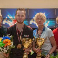 Daniels Vēzis un Veronika Hudjakova Latvijas čempioni boulingā